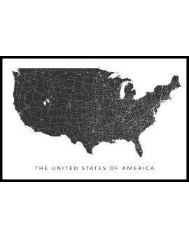 USA Map N02 Plakat