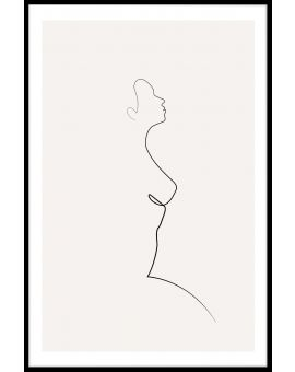 One Line Natural Plakat