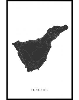 Tenerife Map Plakat