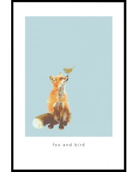 Fox and Bird Plakat