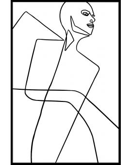 Abstract Line Art N04 Plakat