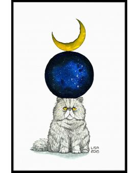 Cosmic Monday Cat Plakat
