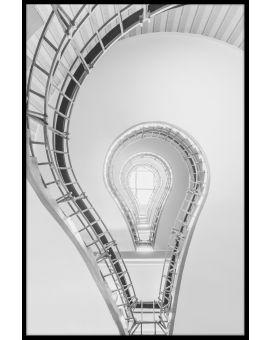 Lightbulb Staircase Plakat