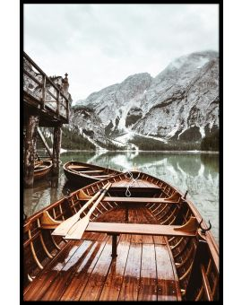 Boats At Braies Lake Plakat