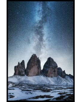 Dolomites And Milky Way Plakat