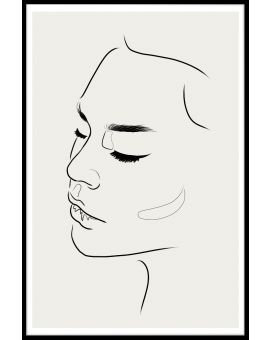 Line Art Female Face Plakat