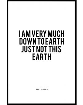 Down To Earth Plakat