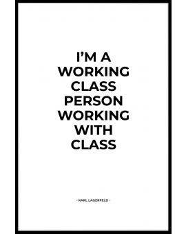 Working With Class Plakat