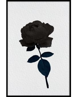 Dark Rose Illustration Plakat